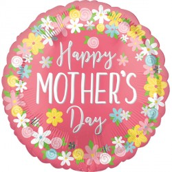 FLORAL WREATH HAPPY MOTHER'S DAY JUMBO P32 PKT