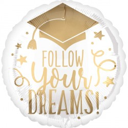 FOLLOW YOUR DREAMS WHITE & GOLD STANDARD S40 PKT
