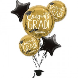 THE ADVENTURE BEGINS GRAD 5 BALLOON BOUQUET P75 PKT (3CT)
