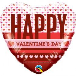 "HEARTS HAPPY VALENTINE 18"" PKT"