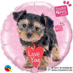 "TERRIER LOVE YOU STUDIO PETS 18"" PKT IB"