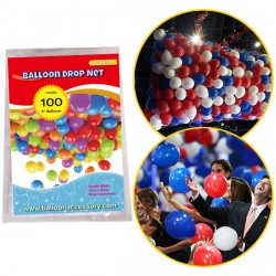 "100 BALLOON DROP NET (HOLDS 100 9"" BALLOONS)"