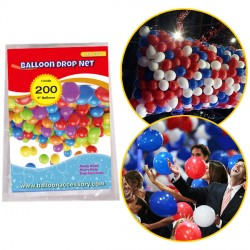 "200 BALLOON DROP NET (HOLDS 200 9"" BALLOONS)"