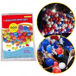 "500 BALLOON DROP NET (HOLDS 500 9"" BALLOONS)"