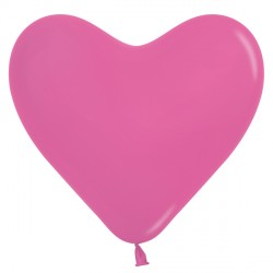 "FUCHSIA 012 6"" HEART SEMPERTEX FASHION (100CT)"