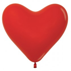 "RED 015 6"" HEART SEMPERTEX FASHION (100CT)"