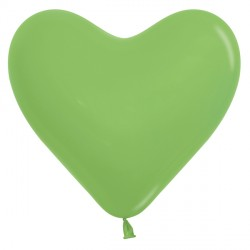"LIME GREEN 031 6"" HEART SEMPERTEX FASHION (100CT)"