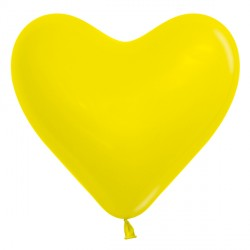 "YELLOW 020 6"" HEART SEMPERTEX FASHION (100CT)"