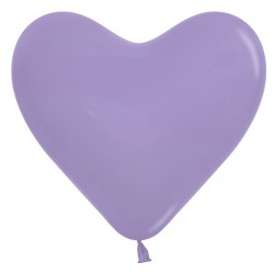 "LILAC 050 6"" HEART SEMPERTEX FASHION (100CT)"