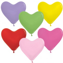 "FASHION ASSORTMENT 6"" HEART SEMPERTEX (100CT)"