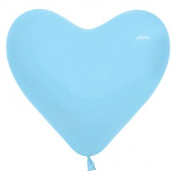 "PASTEL BLUE 140 6"" HEART SEMPERTEX FASHION (100CT)"