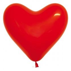 "RED 315 6"" HEART SEMPERTEX CRYSTAL (100CT)"
