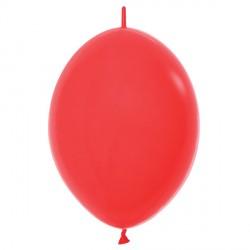 "RED 015 6"" LINK O LOONS SEMPERTEX FASHION (100CT)"