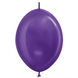 "VIOLET 551 6"" LINK O LOONS SEMPERTEX METALLIC (100CT)"