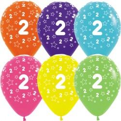 """2 STARS 12"""" TROPICAL ASST SEMPERTEX (25CT)"""