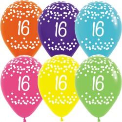 """16 POLKA DOTS 12"""" TROPICAL ASST SEMPERTEX (25CT)"""