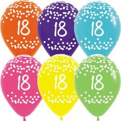 """18 POLKA DOTS 12"""" TROPICAL ASST SEMPERTEX (25CT)"""