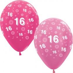 """16 FLOWERS 12"""" PINK MIX SEMPERTEX (25CT)"""