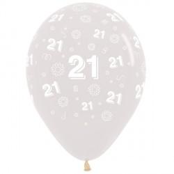 "21 FLOWERS 12"" CLEAR SEMPERTEX (25CT)"