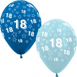 "18 STARS 12"" BLUE MIX SEMPERTEX (25CT)"