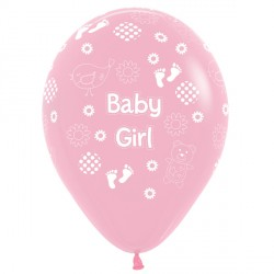 "BABY GIRL 12"" PINK SEMPERTEX (25CT)"