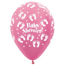 "BABY SHOWER 12"" FUCHSIA SEMPERTEX (25CT)"