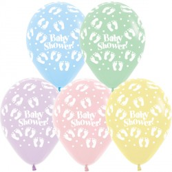 "BABY SHOWER 12"" ASSORTMENT SEMPERTEX (25CT)"