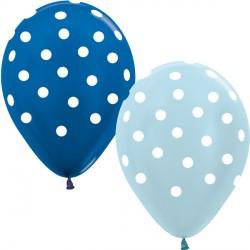 """DOTS 12"""" BLUE MIX SEMPERTEX (25CT)"""