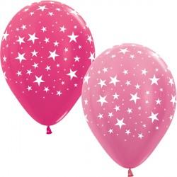"STARS 12"" PINK MIX SEMPERTEX (25CT)"