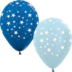 "STARS 12"" BLUE MIX SEMPERTEX (25CT)"
