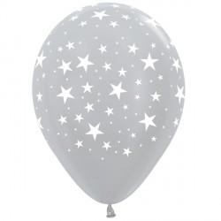 "STARS 12"" SILVER SEMPERTEX (25CT)"