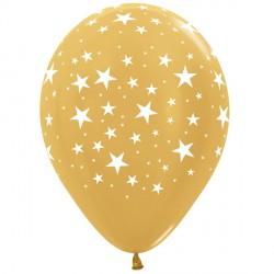 "STARS 12"" GOLD SEMPERTEX (25CT)"