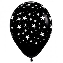 "STARS 12"" BLACK SEMPERTEX (25CT)"