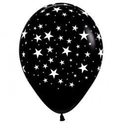 "STARS 12"" BLACK SEMPERTEX (25CT)"