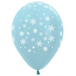 "SNOWFLAKE 12"" BLUE SEMPERTEX (25CT)"