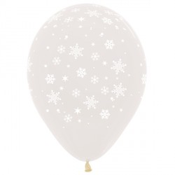"SNOWFLAKE 12"" CLEAR SEMPERTEX (25CT)"