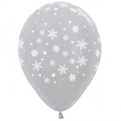 "SNOWFLAKE 12"" SILVER SEMPERTEX (25CT)"