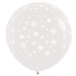 "SNOWFLAKE 36"" CLEAR SEMPERTEX (2CT)"