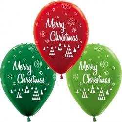 """CHRISTMAS SCRIPT 12"""" RED, LIME & GREEN ASST SEMPERTEX (25CT)"""