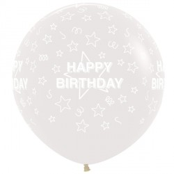 "STARS HAPPY BIRTHDAY 36"" CLEAR SEMPERTEX (2CT)"