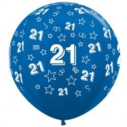 "21 STARS 36"" BLUE SEMPERTEX (2CT)"