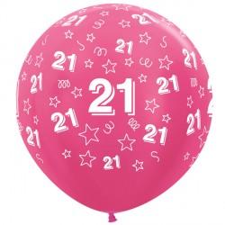 """21 STARS 36"""" FUCHSIA SEMPERTEX (2CT)"""