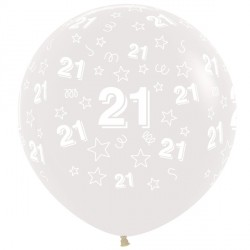 "21 STARS 36"" CLEAR SEMPERTEX (2CT)"
