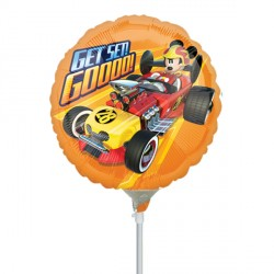 "MICKEY MOUSE ROADSTER GET SET GO 9"" A20 INFLATED WITH CUP & STICK"
