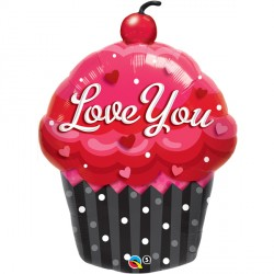 "LOVE YOU CUPCAKE 35"" SHAPE GROUP B PKT"