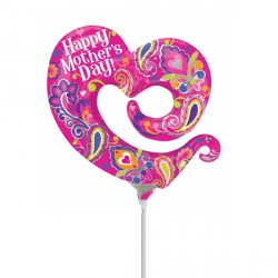 OPEN SWIRLY HEART MOTHER'S DAY MINI SHAPE FLAT SALE