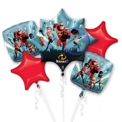 INCREDIBLES 2 5 BALLOON BOUQUET P75 PKT (3CT)