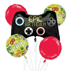 EPIC PARTY THIS IS EPIC 5 BALLOON BOUQUET P75 PKT (3CT)