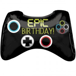 """EPIC PARTY GAME CONTROLLER BIRTHDAY SHAPE P30 PKT (28"""" x 18"""")"""