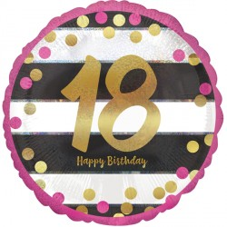 PINK & GOLD 18 BIRTHDAY STANDARD S40 PKT